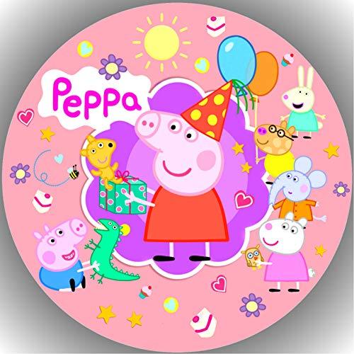 Premium Esspapier Tortenaufleger Tortenbild Geburtstag Peppa Pig T37