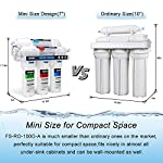 FS-TFC 5-Stage Reverse Osmosis Water Filtration System 100GPD Fast Flow Plus Extra 4 Filter for Free (FS-RO-100G-A) 10 Supreme quality - designed, and assembled to guarantee water safety & your health.Remove Rate up to 99.999%,including chlorine, taste, odor, VOCs, as well as toxic fluoride, arsenic, lead, nitrates, heavy metals and 1000+ contaminants.Experience clean, safe, good-tasting water every time you turn on the faucet. Enjoy crystal clear ice cubes, fresher tea and coffee, better tasting foods, healthier baby formula – even better than most bottled water. Mini Size -High Flow Designed :Developed for household and commercial use, This Water Filtration System can be installed in your kitchen, bathroom, RV, or office .The tested full flow rate is 18L per hour at 60 Psi,means you can get 1 cup (200ml) of pure,fresh and great tasting water in 5 seconds.Completely satisfied with your daily water needs. Easy, do-it-yourself installation, Fits under a standard kitchen sink, with all parts included and clear, well-organized instructions and videos. Don't need waste money on professional installation. quick and easy-to-understand design means you can install and understand everything about your new water filtration system.