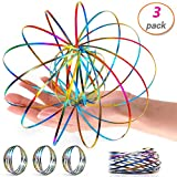 3 Pack Flow Ring Arm Magic Spring Arm Flow Rings Sculpture Ring Game Colored Magic Kinetic Spring Interactive Stress Relief Rings Festival Accessories