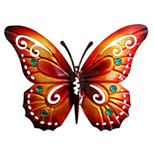 YARNOW Garten Schmetterlinge Deko Eisen Gartendeko Tiere Figur Metall Wanddeko Gartenfigur Garten Dekofigur Tierfiguren Gartenskulptur Statue für Zaun Terrassen Dekoration