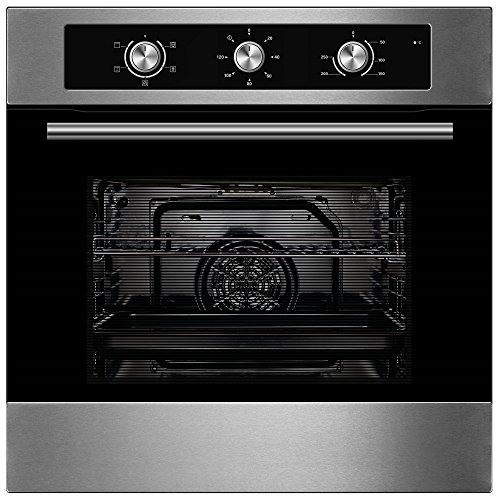 51qf iSY8dL. SS500  - Cookology Built-in Electric Single Fan Oven in Stainless Steel with Minute Minder | COF600SS
