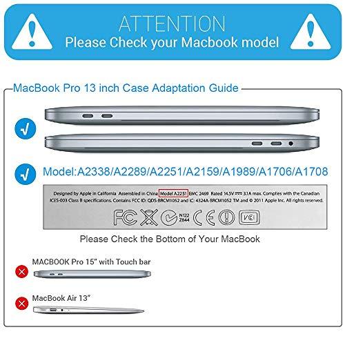 B BELK MacBook Pro 13-Zoll-Gehäuse 2020 (Modell: A2338 M1 A2289 A2251), MacBook Pro 2020-Gehäuse für 13.3 Mac Pro mit Touch Bar + Silikon-Tastaturabdeckung + Displayschutz + TrackPad-Schutz, Schwarz