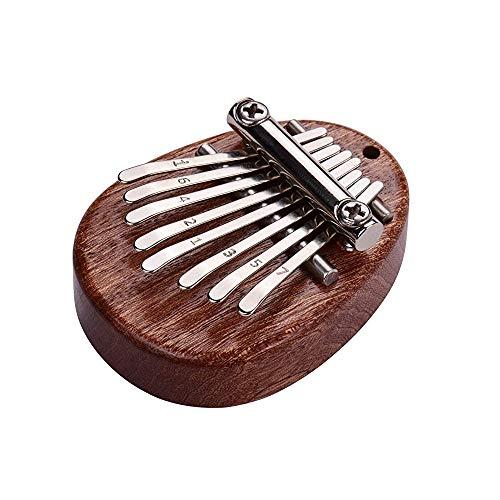 Tragbare Kalimba, Mini Kalimba Daumen Klavier, Daumen Klavier, Finger Percussion Kalimba, 8 Tasten Kalimba, Mahagoni 8 Schlüssel Mini Tragbar Pocket Thumb Piano für Kindergeschenk, Musikanfänger