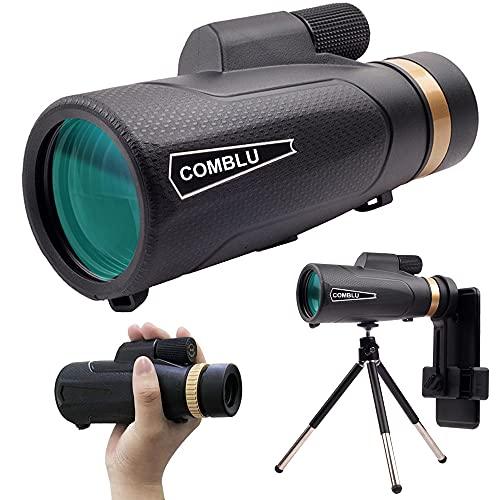 Telescopio Monoculare, 18 X 62mm HD BAK4 Monocolo Professionale Impermeabile IP68 con Clip per Cellulare, Canocchiale Monoculare per Bird Watching, Caccia,Campeggio,Viaggio, Partite di Calcio