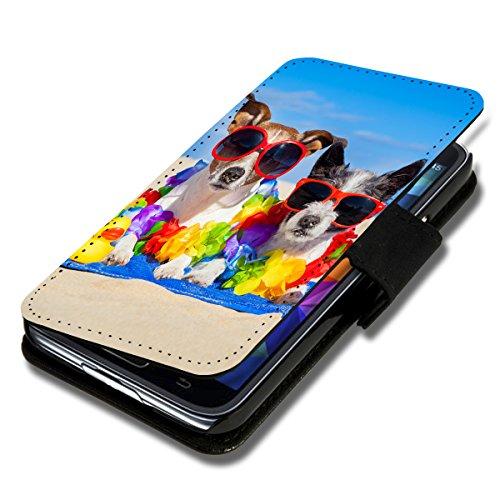 wicostar Book Style Flip Handy Tasche Hülle Schutz Hülle Schale Motiv Foto Etui für LG Bello 2 / Bello II - Flip X16 Design11