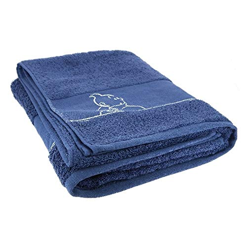 Moulinsart Toalla de baño Tintín 100% Algodón - Azul (150x90cm)