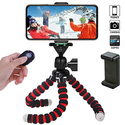 Phone Tripod Plus 11.02 inch Flexible Travel tripods for iPhone Cell Gorilla Stand