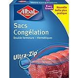 Albal 8 Sacs Congélation, Fermeture Ultra-Zip, Hermétique, 8 L