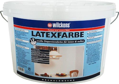 Wilckens Latexfarbe hochglänzend, 5 L, weiß 13490300090
