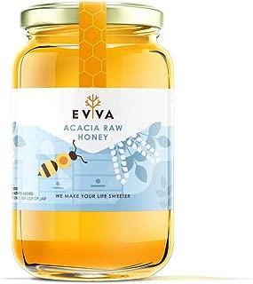 EVVA 100% Pure Raw Honey - Top Quality Organic Honey - Pure Honey in a Glass Jar - USDA Certified Unfiltered Honey - 100 % Natural Honey - Moldova Wild Honey (Acacia Honey, 33 Ounce)