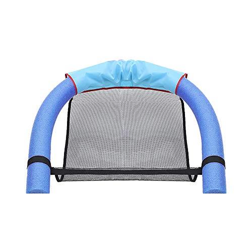 DEEPOW Schwimmender Stuhl Schwimmende Reihe Wasser-Liegestuhl Wasserbrett Schwimmbrett Pool-Nudel Stuhl Mit Netzstoff ,Wasser SchwimmschwimmstangeGeeignet für Erwachsene und Kinder.