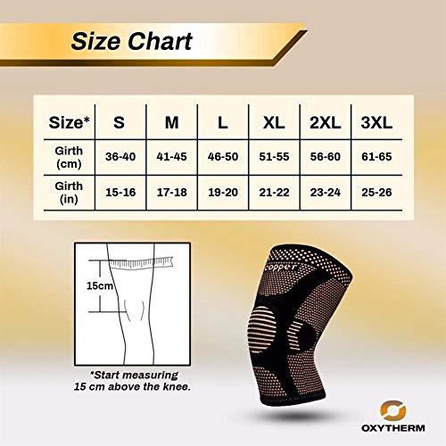 Kniebandage Neue kupferfaser knieschoner motion belüftung knieschoner elastische kraft motion knieschoner radfahren basketball schutzkleidung knee active plus ( Color : Black , Size : XXXL )