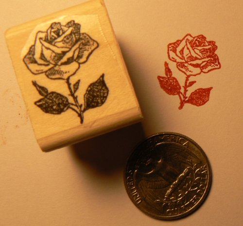 Miniature Rose Rubber Stamp P24