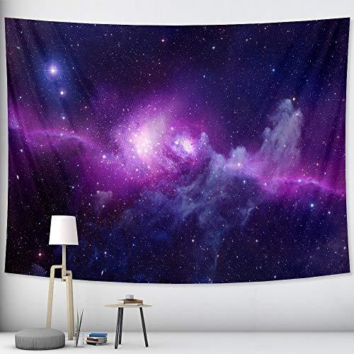 KHKJ Cielo Estrellado Colgante de Pared Escena psicodélica Mandala brujería Tapiz Hippie Tapiz Decorativo A6 200x180cm