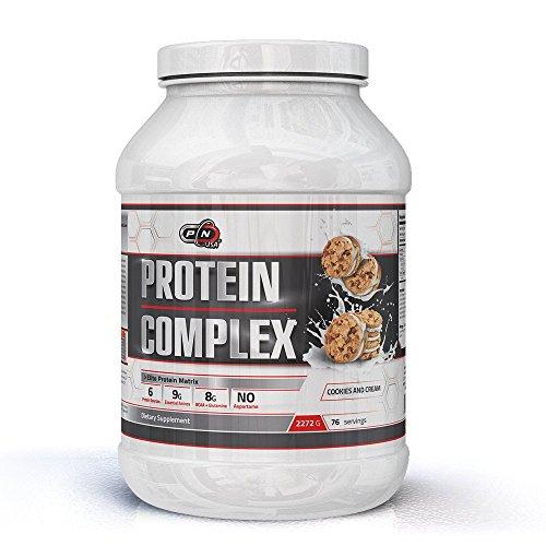 Pure Nutrition PROTEIN COMPLEX Mehrkomponenten Protein Pulver|6 Proteine Whey Isolat Hydrolysat Konzentrat Milch Eiweiß Eiklar Micellar Casein|Schoko Strawberry Vanille|30|76 Dosen|Deutsche Qualität