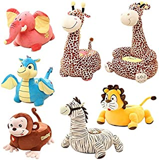 eSunny Child Plush Toy Monkey Dolphin Cartoon Seat Stool Sofa Birthday Gift,Plush Seat Chair Must Have Toys Gift Sets The Favourite Superhero Decorations 3 Movie Collection