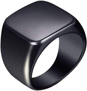 Titanium Signet Ring Black