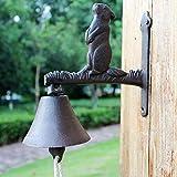 CCLLtuy Moda timbre decorativo País de América Retro Timbre de la puerta Timbre de hierro forjado Simple Personalidad Manual Timbre