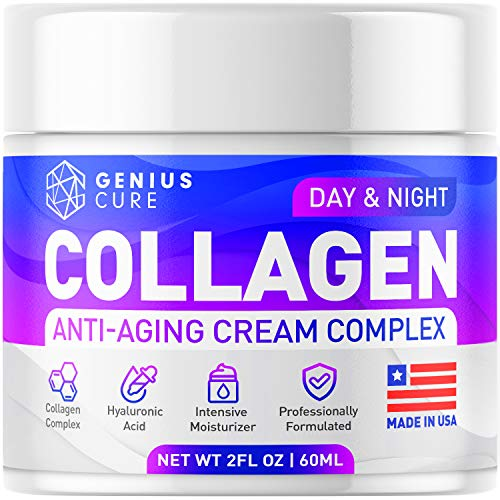 51qf5CQ1  L - GENIUS Collagen Cream - Smart Anti Aging Face Moisturizer - Day & Night Wrinkle Cream - Hyaluronic Acid & Vitamin E - Cleanse, Moisturize, and Protect Your Skin 2oz