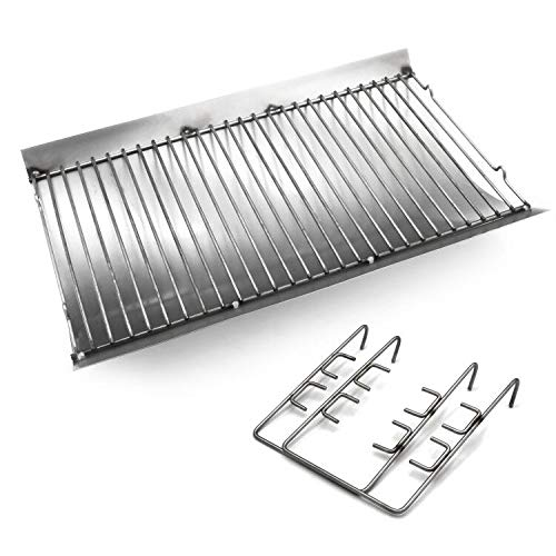 Hongso 14 7/8 Inches Fire Grate Hanger & Ash Drip Pan for Use with Char-Griller 5030 2-Burner Gas & Charcoal Grill, Replacement Parts Chargrill Ash Pan (APC507)