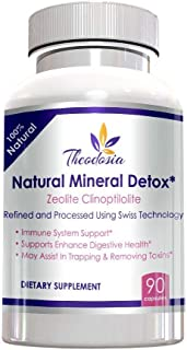 Zeolite Clinoptilolite Natural Mineral Detox – Effective Gut and Immune System Support – 97% Purity 800mg Capsules 3 Month Supply – Made in America