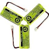 BT18433 BT28433 BT184342 BT284342 BT183348 BT283348 BT-1011 Replacement Battery Compatible for Vtech Phone CS6209 CS6219 CS6229 DS6151 89-1330-01-00 CPH-515D OXWINOU(Pack of 3)