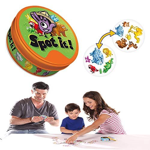 Spot It Party Game Animals Jr