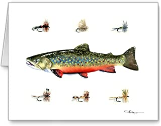 Brook Trout - Fly Fishing - Set of 10 Note Cards With Envelopes