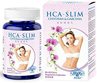 MIRI HCA-Slim (80 Veg caps) - Natural Weight Loss, Chitosan, Garcinia Cambogia (HCA), Aloe Vera, Green Tea - Best Weight L...