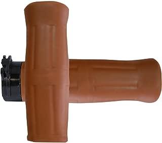 Avon Grips OLD69TAN Old School Grip - H-D with Throttle Slide - Coke Bottle Tan