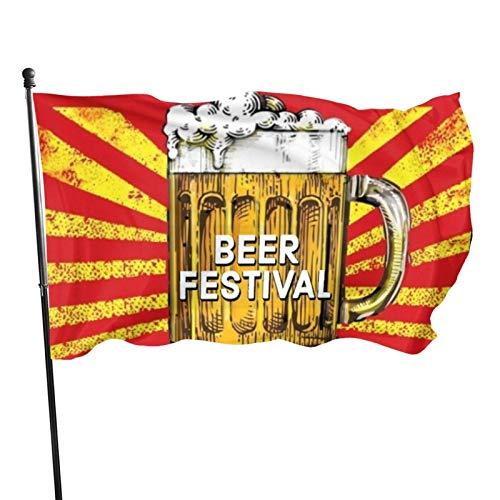 AOOEDM Bandera Decorativa Bandera de jardín Beer Festival Flags 3x5 Outdoor Indoor Banner Flag