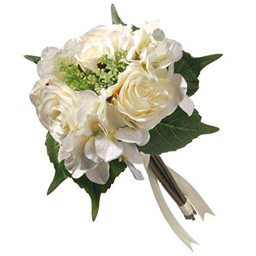 "National Tree 12.2"" Cream Rose and Hydrangea Bundle"