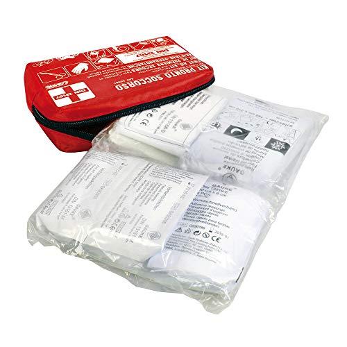 Set Verbandtasche Motorrad Lampe 66961 First Aid Norm Europa din 13167-2014 Größe 50X160X120MM