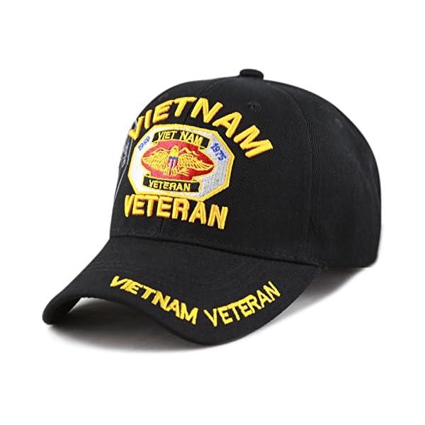 The Hat Depot Official Licensed U.S. Military Vietnam Veteran Ribbon Cap