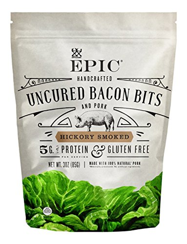 EPIC Hickory Smoked Bacon Bits, Keto Consumer Friendly, 1 Count Box 3oz pouches