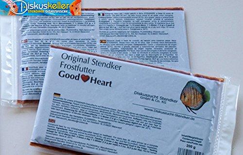 Stendker Frostfutter Sparpaket 25 x GoodHeart Diskusfutter/Rinderherz 200g Flachtafel
