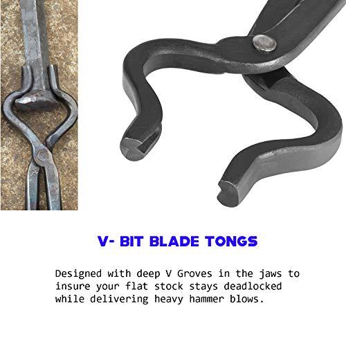 Knife Making Tongs Set 3Pcs Assembled Knife Making Blacksmith Tools Anvil Forge