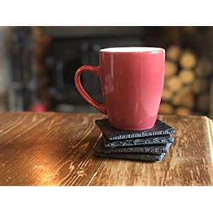 Customer reviews Set of 8 Handmade Natural Slate Coasters - Table Place Coaster Dinner Sets Sushi Cafe Restaurant Parties Home Christmas Gift