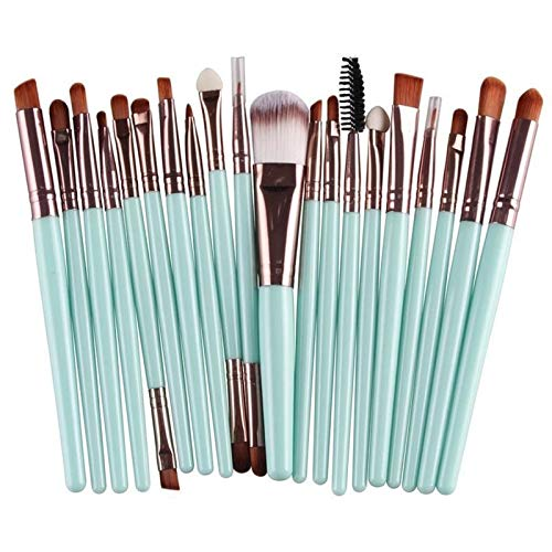 Brosses Maquillage de visage 20 à 1 poignée en plastique souple Head Eye Foundation Lip multi-fonction Pinceau Outils de maquillage, Maquillage Brush Set (Color : Color4)