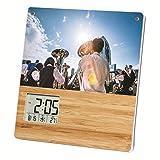 ADESSO(アデッソ) 置き時計 竹のフォトフレームクロック デジタル ブラウン TP-603