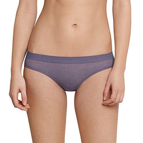 Schiesser Damen Mix & Relax Mini Bikinislip, Blau (Blaugrau 808), 40 (Herstellergröße: L)