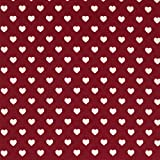 Baumwollstoff Herzen weinrot - Preis gilt für 0,5 Meter