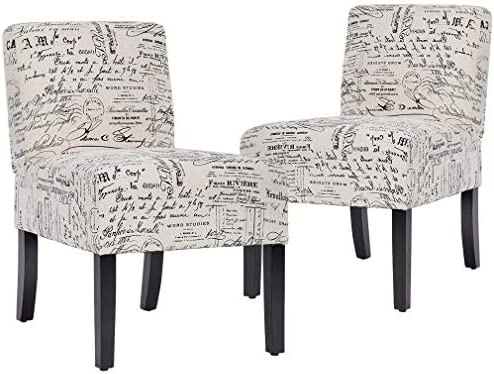 Best Accent Chair Armless Chair Dining Chair Set of 2 Elegant Design Modern Fabric Living Room Chairs Sof