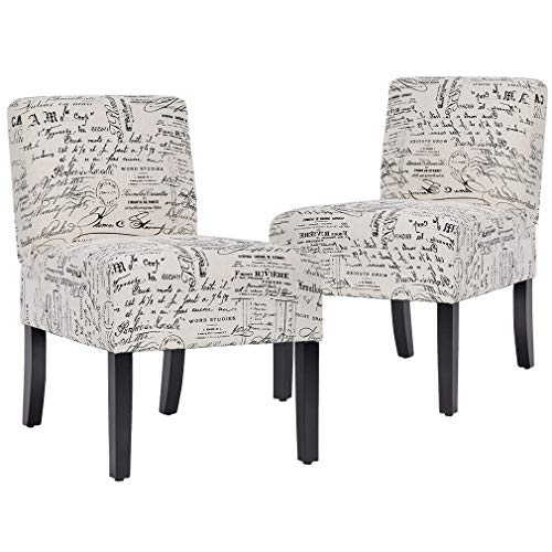 BestMassage Urban Style Accent Dining Chairs Sofa Side Chairs with Solid Wood Legs Home Furniture