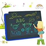 LCD Writing Tablets, Colorful Drawing Doodle Board 11 Inch Digital eWriter for Kids Portable Electronic Graphics Blue