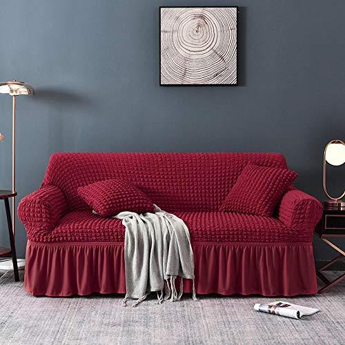 Fsogasilttlv Ajuste elástico con Funda de sofá,Fundas elásticas seccionales para sofá de Esquina para Sala de Estar, Funda Antideslizante para sofá, Rojo, 4 plazas, 170-230 cm (1 Pieza)