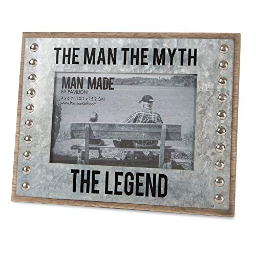 Pavilion - The Man The Myth The Legend - Wood and Metal 4x6 Picture Frame