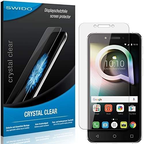 SWIDO Bildschirmschutzfolie für Alcatel Shine Lite [3 Stück] Kristall-Klar, Extrem Kratzfest, Schutz vor Öl, Staub & Kratzer/Folie, Glasfolie, Bildschirmschutz, Schutzfolie, Panzerfolie