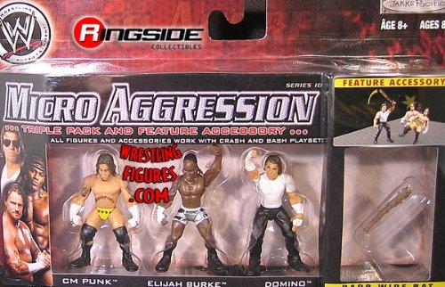 WWE Wrestling Micro Aggression Series 10 Figure 3-Pack CM Punk, Elijah Burke and Domino