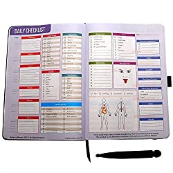 Radiance Planner Personal Daily Healthy Lifestyle Diet and Nutrition Tracking Journal